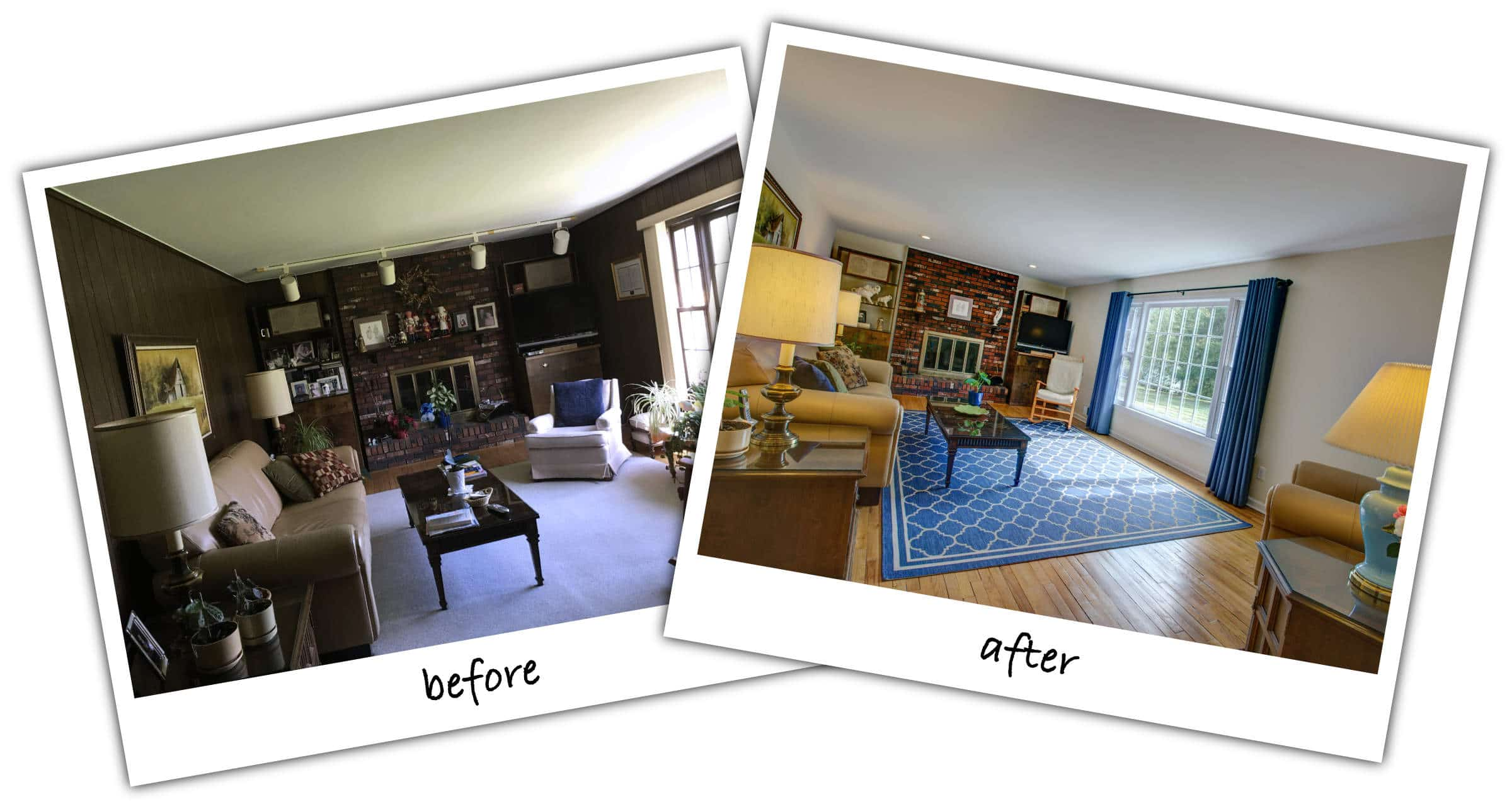 Family Room Before and After Photos